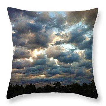 Deceptive Clouds Throw Pillow by Cricket Hackmann