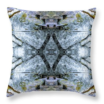Deciduous Dimensions Throw Pillow