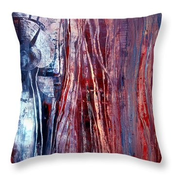 Decision Time Throw Pillow by Valerie Travers