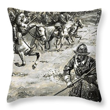 Decisive Battles Where King Charles Lost His Crown Throw Pillow By CL  Doughty