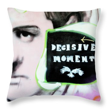 Throw Pillow featuring the photograph Decisive Moment by Art Block Collections
