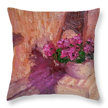 Deck Flowers #2 Throw Pillow by Brian Kardell
