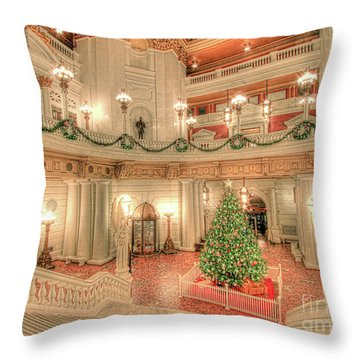 Deck The Hall Throw Pillow