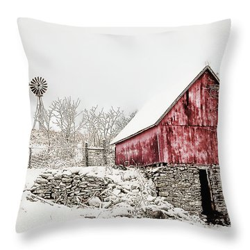Decked In White Throw Pillow