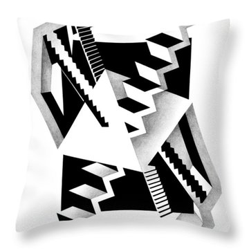 Decline And Fall 3 Throw Pillow