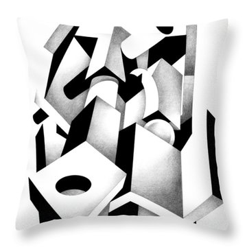Decline And Fall 6 Throw Pillow