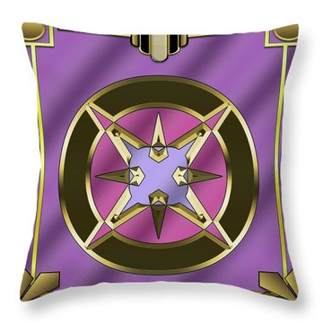 Throw Pillow featuring the digital art Deco 25 - Chuck Staley by Chuck Staley