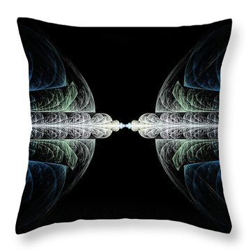 Deco And Diamonds Throw Pillow by Lea Wiggins