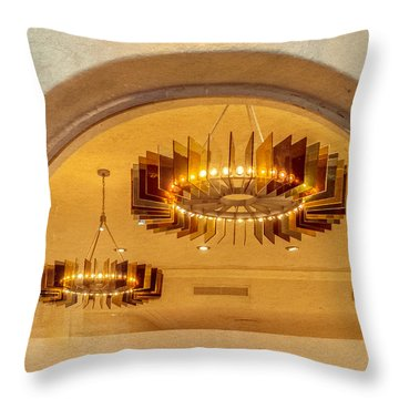 Throw Pillow featuring the photograph Deco Arches by Melinda Ledsome