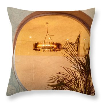 Throw Pillow featuring the photograph Deco Circles by Melinda Ledsome