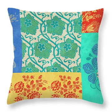 Deco Flowers Throw Pillow
