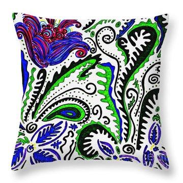 Deco Garden Throw Pillow by Sarah Loft