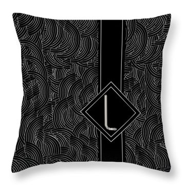 Deco Jazz Swing Monogram ...letter L Throw Pillow