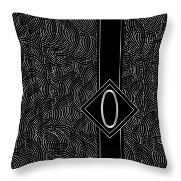 Deco Jazz Swing Monogram ...letter O Throw Pillow