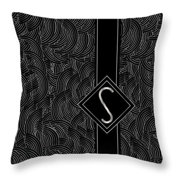 Deco Jazz Swing Monogram ...letter S Throw Pillow