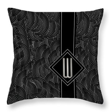 Deco Jazz Swing Monogram ...letter W Throw Pillow