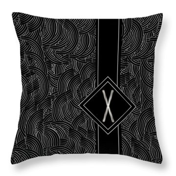 Deco Jazz Swing Monogram ...letter X Throw Pillow