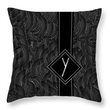 Deco Jazz Swing Monogram ...letter Y Throw Pillow