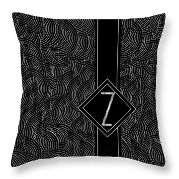 Deco Jazz Swing Monogram ...letter Z Throw Pillow