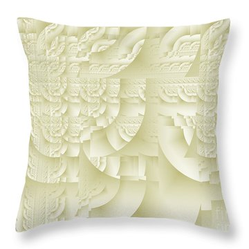 Throw Pillow featuring the digital art Deco Relief by Richard Ortolano