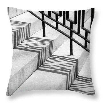 Throw Pillow featuring the photograph Deco Shadow by Rona Black
