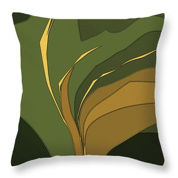 Throw Pillow featuring the digital art Deco Tile by Gina Harrison