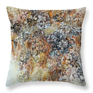 Throw Pillow featuring the painting Decomposition  by Joanne Smoley
