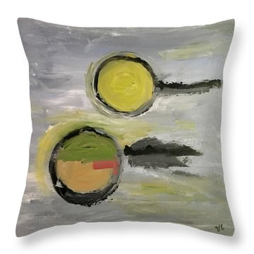 Deconstruction Throw Pillow by Victoria Lakes