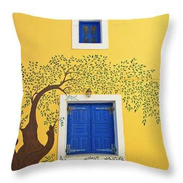 Decorated House Throw Pillow by Meirion Matthias