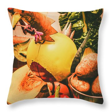Harvesting Throw Pillows