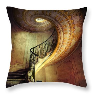 Decorated Spiral Staircase  Throw Pillow