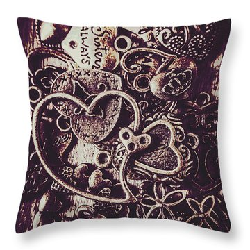 Decorating A Love Nest Throw Pillow