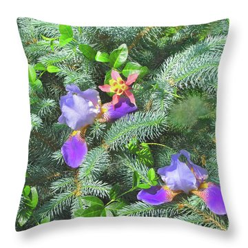 Throw Pillow featuring the photograph Decorating For Spring by Nancy Lee Moran