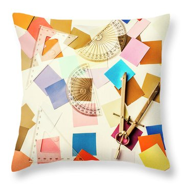 Decoration In Symmetry Throw Pillow