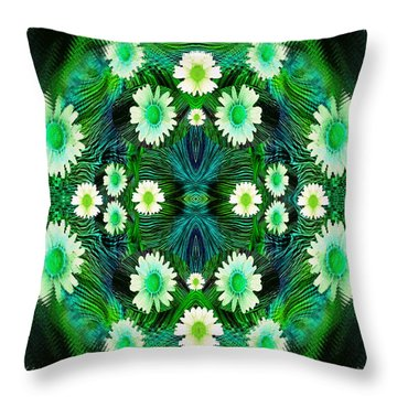 Decorative Abstract Meadow Throw Pillow