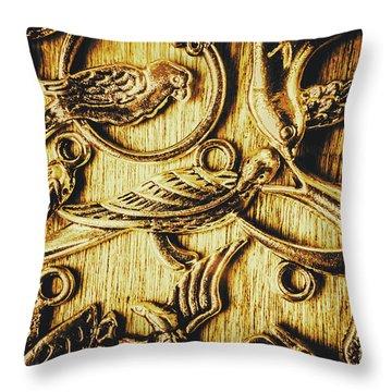 Decorative Bird Charms Throw Pillow