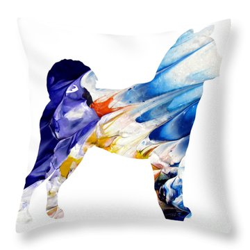 Decorative Husky Abstract O1015c Throw Pillow