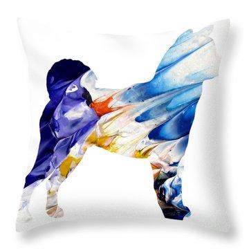 Decorative Husky Abstract O1015c Throw Pillow