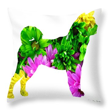 Decorative Husky Abstract O1015d Throw Pillow