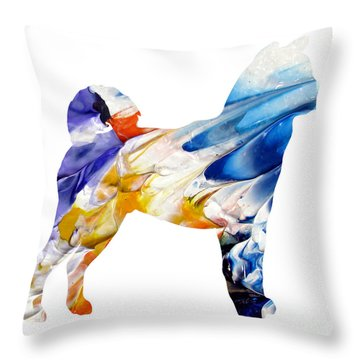 Decorative Husky Abstract O1015e Throw Pillow