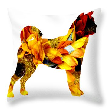 Decorative Husky Abstract O1015g Throw Pillow