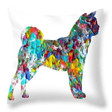 Decorative Husky Abstract O1015h Throw Pillow