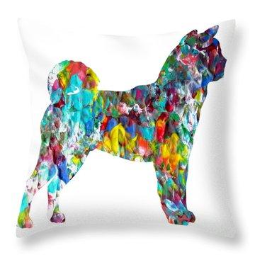 Decorative Husky Abstract O1015h Throw Pillow