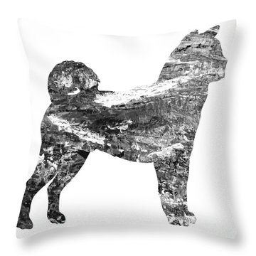 Decorative Husky Abstract O1015j Throw Pillow