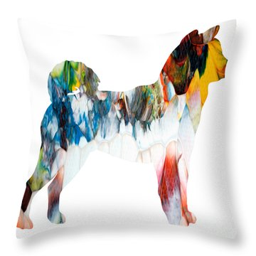 Decorative Husky Abstract O1015l Throw Pillow
