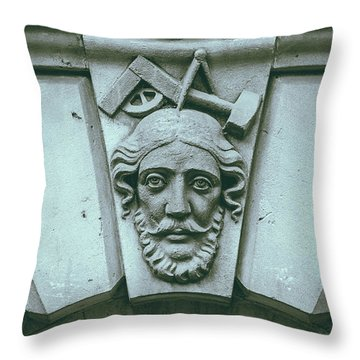 Decorative Keystone Architecture Details A Throw Pillow