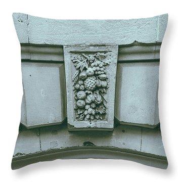 Throw Pillow featuring the photograph Decorative Keystone Architecture Details L by Jacek Wojnarowski