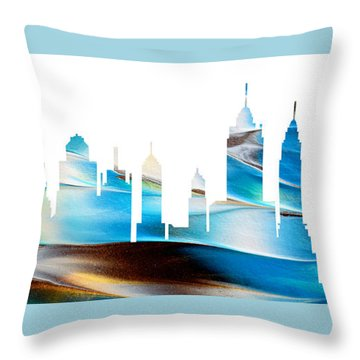 Decorative Skyline Abstract New York P1015a Throw Pillow