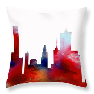 Throw Pillow featuring the painting Decorative Skyline Abstract  Houston T1115d by Mas Art Studio