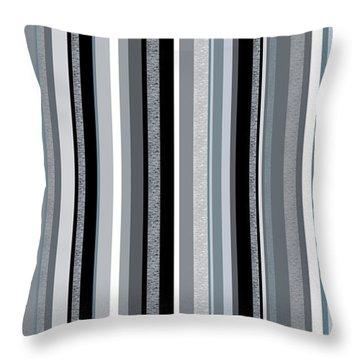 Decorative Stripe - Blue Gray Stripes  Throw Pillow